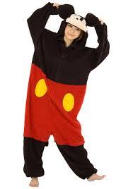 Mens Disney Halloween Costumes Mens Pajama Mickey Mouse Costume Mickey Mouse Costumes