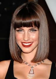 medium length hairstyles for women with bangs