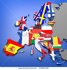 european countries on a map 3d illustration european countries map stock illustration