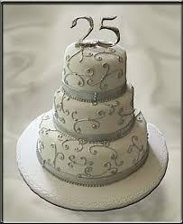 25th anniversary ideas cakes for 25th wedding anniversary wedding corners