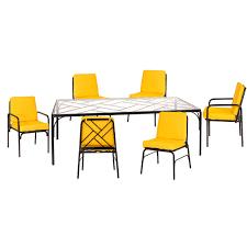 Patio Dining Sets 7 Piece - fairy tale 7 piece contemporary patio furniture set stori modern