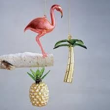 tropical glass ornament palm tree west elm