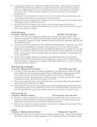 sle resume for business analyst role in sdlc phases system jackderickson resume 120214 general