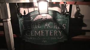 haunted cemetery sign halloween prop youtube