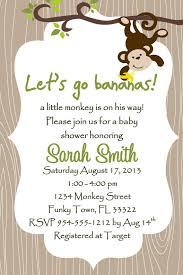 monkey themed baby shower invitations reduxsquad