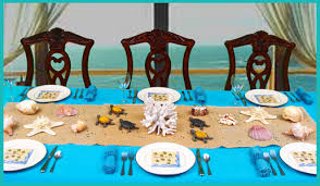 the sea decorations stylish subtle the sea centerpiece dinner party decorations