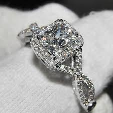 wedding rings luxury images Ainuoshi luxury wedding ring 2 carat cushion cut sona simulated jpg