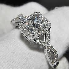 wedding rings luxury images Ainuoshi luxury wedding ring 2 carat cushion cut sona simulated jpg