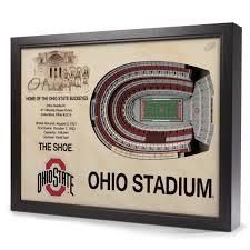 ohio state buckeyes stadiumview wall art ohio stadium 3 d