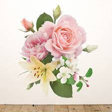 vintage inspired floral wall sticker by oakdene designs vintage inspired floral wall sticker