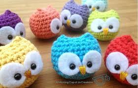 ravelry baby owl ornaments pattern by josephine wu