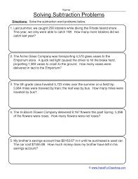 subtraction word problems worksheet 1
