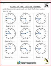 clock worksheet quarter past and quarter to