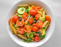 Summer Garden Pasta - on summer pasta salad and on why you should not rinse pasta with