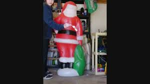 5 foot santa claus blowmold youtube