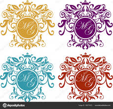 retro royal vintage shields set logo calligraphyc vector luxury