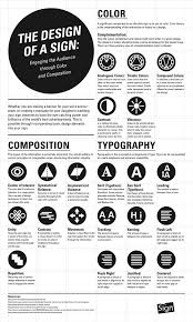 sign design color and composition graphic design