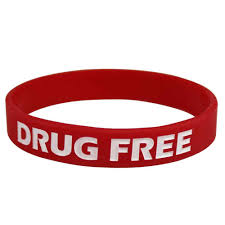 silicone wrist bracelet images Silicone wristbands color fill debossed 1 2 quot drug free design jpg