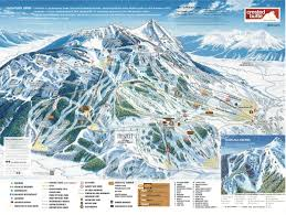 United States Map Mountains by Crested Butte Mountain Resort Trail Map