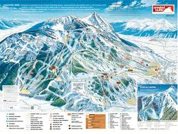 Map Of The United States With Landforms by Crested Butte Mountain Resort Trail Map