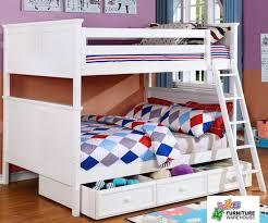 chatham full over full bunk bed in white allen house kids loft