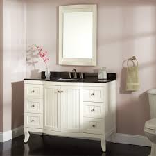 bathroom free standing white bathroom vanities in single bathroom