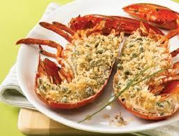 homard grillé et chapelure au citron et à la ciboulette recettes