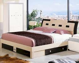 Modern Beds With Storage Two Tone Storage Bed Made In Italy 44b2212