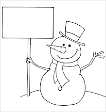 large snowman coloring page printable large snowman template printable coloring page free