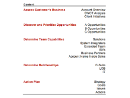 key account template demand creation planning template slides four quadrant
