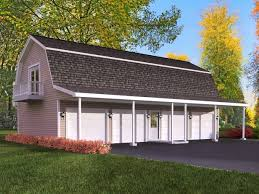 Hip Roof Barn Plans Apartments Garage Plans Living Quarters Three Car Garage With