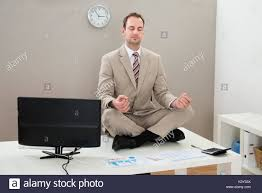 Sitting On The Desk Portrait Man Closed Eyes Concentration Stock Photos U0026 Portrait Man