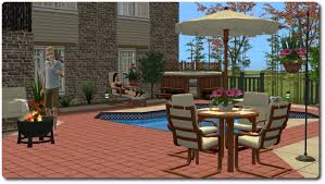 2 Chairs And Table Patio Set Mod The Sims Patio And Garden Set A Mixed Bag Of Stuff For The