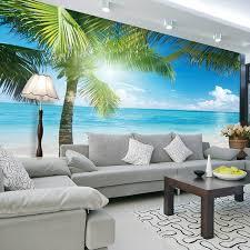 coconut tree beach photo wallpaper custom 3d wall murals ocean