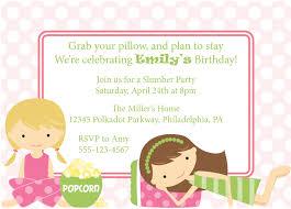 Invitation Birthday Party Card Slumber Party Invitation Sleepover Invite Birthday Party Girls