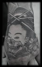 confucius in japanese tattoo hand art design idea for men and women