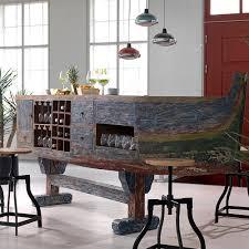 Reclaimed Boat Wood Furniture Boat Bar Desk With Wine Rack U0026 Storage Kitchen Furniture Cuckoolan