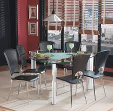 Glass Modern Dining Room Furniture Furniture Stunning Dining Room With Black Dining Chairs And