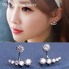 back diamond earrings front back stud earrings stud earrings references