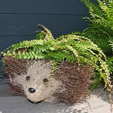 hedgehog design rattan garden planter animal plant pot amazon co