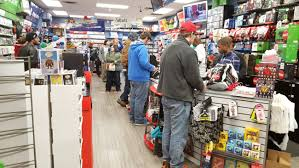 gamestop black friday dozens wait out in the cold for black friday shopping at