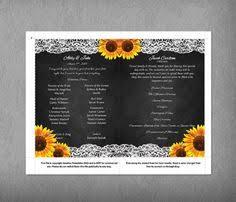 Chalkboard Wedding Program Template Printable Rustic Sunflower Wedding Program Template By Vginvites
