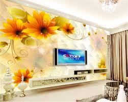 3d wallpaper for bedroom beibehang 3d wallpapers large floral mural house decoration