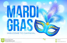 blue mardi gras blue mardi gras banner template with carnival mask stock vector