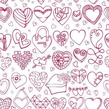 heart wrapping paper heart icons seamless pattern wedding symbols