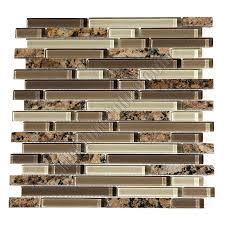Black Granite Glass Tile Mixed Backsplash by Glass Tile Bellavita Sierra Vista Svdgg Desert Gold Blend