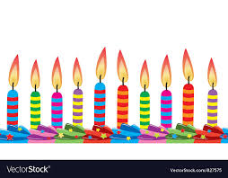 birthday candle birthday candles on cake royalty free vector image