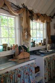 2012 best lake house ideas images on pinterest home live and love this burlap drape idea and of course the cabinet curtains