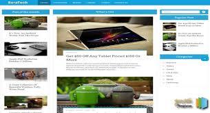 sora tech responsive blogger template web graphics theme wp free