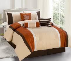 Orange Comforter Brown And Orange Comforter Set Home Design Ideas
